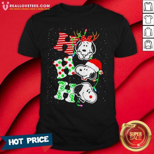 Top Snoopy's Ho Ho Ho Merry Christmas 2020 Shirt - Design By Reallovetees.com