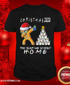 Christmas 2020 The Year We Stayed Quarantine Gingerbread Wear Mask Toilet Paper Tree Shirt - Design By Reallovetees.com