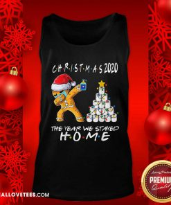 Christmas 2020 The Year We Stayed Quarantine Gingerbread Wear Mask Toilet Paper Tree Tank Top - Design By Reallovetees.com