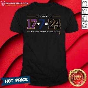 Vip Los Angeles 17 7 24 Baseball World Championships Shirt - Design By Reallovetees.com
