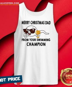 Vip Merry Christmas Dad From Your Swimming Champions Tank Top - Design By Reallovetees.com