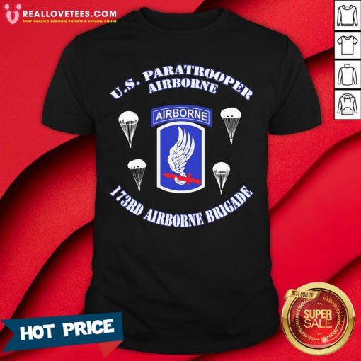 Vip Us Paratrooper Airborne 173rd Airborne Brigade Shirt - Design By Reallovetees.com