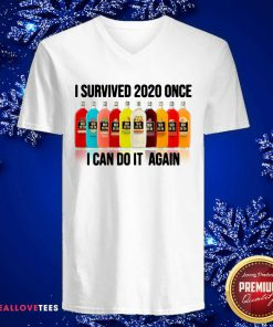 Survived 2020 Once I Can Do It Again V-neck - Design By Reallovetees.com
