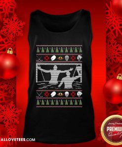 Water Polo Ugly Christmas Tank Top - Design By Reallovetees.com