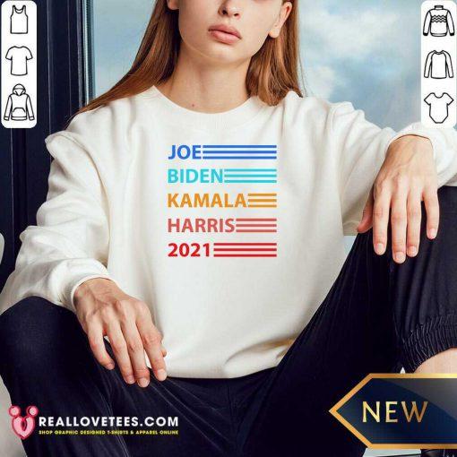 Joe Biden Kamala Harris Biden Harris 2021 Vintage Election Sweatshirt - Design By Reallovetees.com