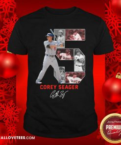 5 Corey Seager Los Angeles Dodgers Signature Shirt - Design By Reallovetees.com