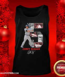 5 Corey Seager Los Angeles Dodgers Signature Tank Top - Design By Reallovetees.com