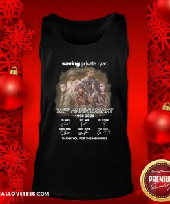 Saving Private Ryan 22nd Anniversary 1988 2020 Thank You For The Memories Signatures Tank Top - Design By Reallovetees.com