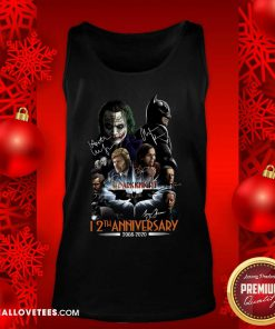 The Dark Knight 12th Anniversary 2008 2020 Signatures Tank Top - Design By Reallovetees.com