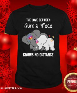 Elephant The Love Between Auntie And Nephew Knows No Distance Shirt - Design By Reallovetees.com