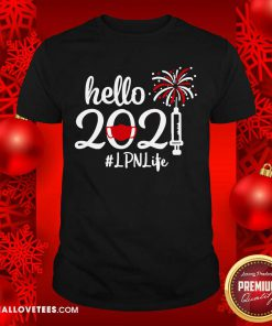 Hello 2021 LPN Life Face Mask Christmas Shirt - Design By Reallovetees.com