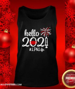 Hello 2021 LPN Life Face Mask Christmas Tank Top - Design By Reallovetees.com