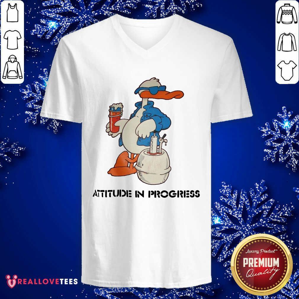 Duck Attitude In Progress V-neck - Design By Reallovetees.com