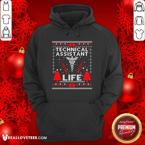 Teaching Assistant Life Cute Gift Ugly Christmas Medical Hoodie - Design By Reallovetees.com