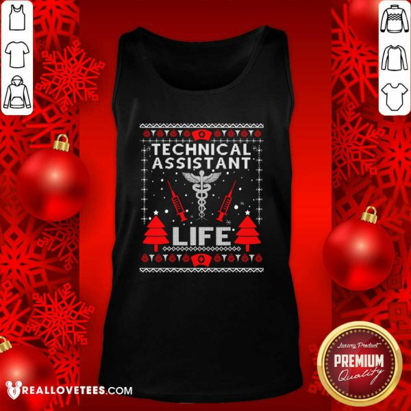 Teaching Assistant Life Cute Gift Ugly Christmas Medical Tank Top - Design By Reallovetees.com