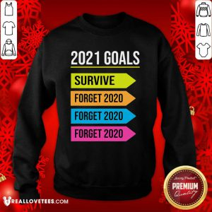 Happy New Year 2021 Goals Goodbye 2020 Survive Forget 2020 Sweatshirt - Design By Reallovetees.com