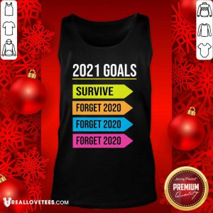 Happy New Year 2021 Goals Goodbye 2020 Survive Forget 2020 Tank Top - Design By Reallovetees.com
