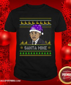 Michael Scott Santa Mike Ugly Christmas Shirt - Design By Reallovetees.com