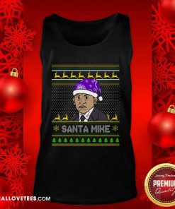 Michael Scott Santa Mike Ugly Christmas Tank Top - Design By Reallovetees.com