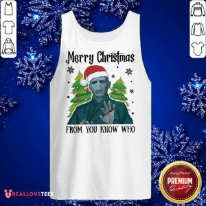 Voldemort Merry Christmas From You Know Who Tank Top - Design By Reallovetees.com