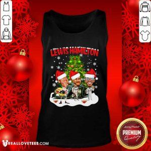 Lewis Hamilton Chibi Christmas Tree Tank Top - Design By Reallovetees.com