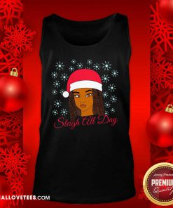 Christmas Melanin Sleigh All Day Tank Top - Design By Reallovetees.com