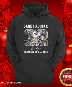 Sandy Koufax 32 Greatest Of All Time Signature Hoodie - Design By Reallovetees.com