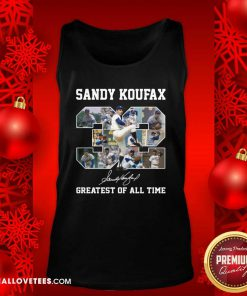 Sandy Koufax 32 Greatest Of All Time Signature Tank Top - Design By Reallovetees.com