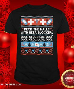 Deck The Halls With Bet A Blockers Shirt - Design By Reallovetees.com