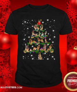 German Shepherd Dog Christmas Tree Shirt - Design By Reallovetees.com