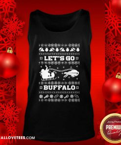 Let Go Buffalo Bills Ugly Christmas Tank Top - Design By Reallovetees.com