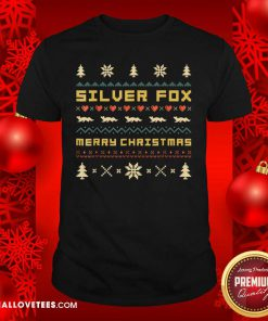 SILVER FOX Merry Christmas Ugly Christmas Shirt - Design By Reallovetees.com