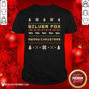 SILVER FOX Merry Christmas Ugly Christmas Shirt - Design By Reallovetees.com