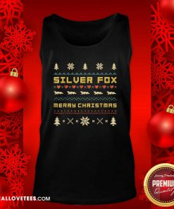 SILVER FOX Merry Christmas Ugly Christmas Tank Top - Design By Reallovetees.com