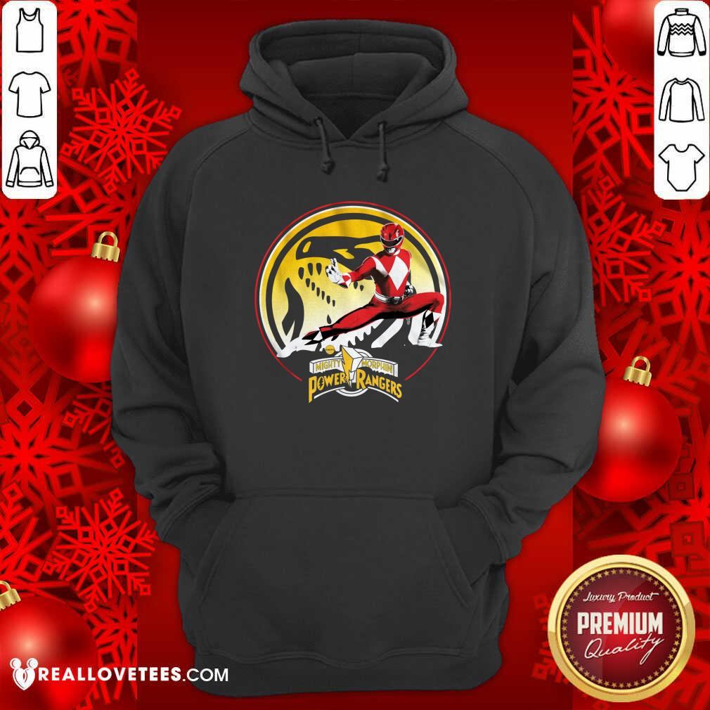 Tyrannosaurus Power Coin Mighty Morphin Power Rangers Hoodie - Design By Reallovetees.com
