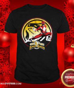 Tyrannosaurus Power Coin Mighty Morphin Power Rangers Shirt - Design By Reallovetees.com