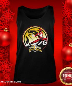 Tyrannosaurus Power Coin Mighty Morphin Power Rangers Tank Top - Design By Reallovetees.com
