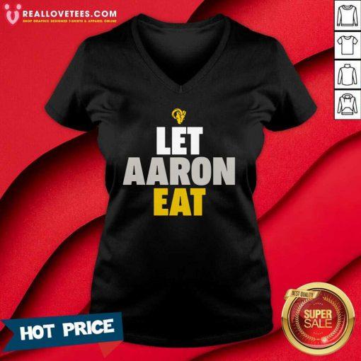 Aaron Donald Los Angeles Rams Let Aaron Eat V-neck