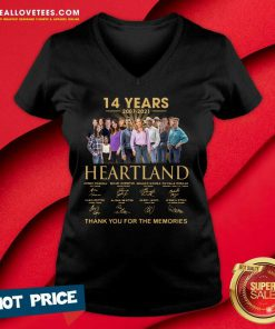 14 Years 2007 2021 Heartland Thank You For The Memories V-neck