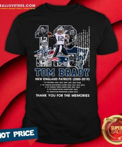 Number 12 Tom Brady New England Patriots 2000 2019 Signature Shirt