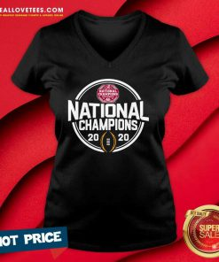 Alabama Crimson Tide Blue 84 Youth College Football Playoff 2020 National Champions Schedule V-neck