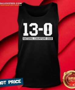 13-0 Alabama National Champions 2021 Tank Top