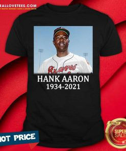 Rip Hank Aaron Atlanta Braves 1934 2021 Shirt