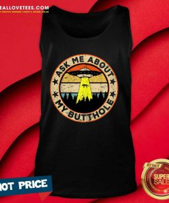 UFO Ask Me About My Butthole Vintage Sunset Tank Top