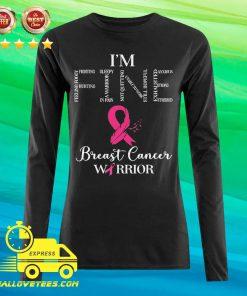 I'm Fine Breast Cancer Warrior Breast Cancer Awareness Long-sleeved