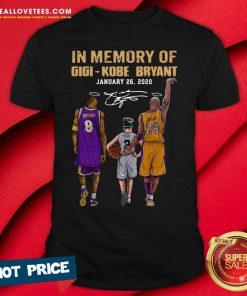 In Memory Of Gigi Kobe Bryant January 26 2021 Shirt