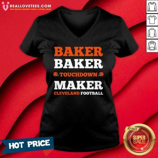 Baker Baker Touchdown Maker Cleveland Football V-neck