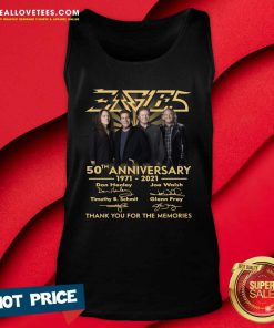 Eagles 50th Anniversary 1971 2021 Thank You For The Memories Signatures Tee Tank Top