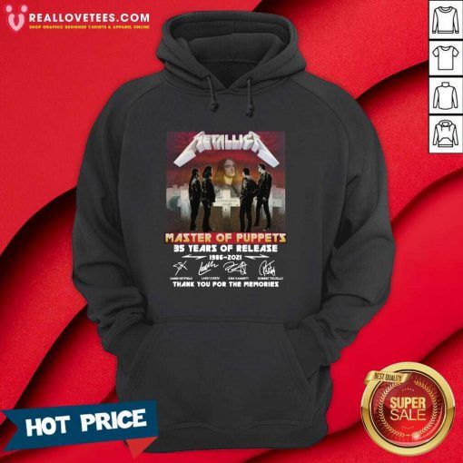 Metallica Master Of Puppets 35 Years Of Release Thank You For The Memories Signatures Hoodie