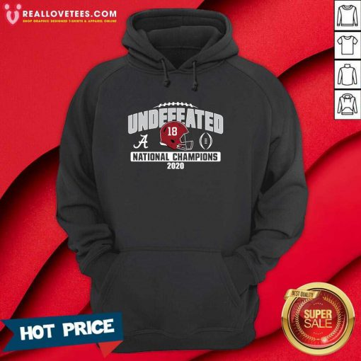 Alabama Crimson Tide Blue 84 College Football Playoff 2020 National Champions Undefeated Oversized Hoodie